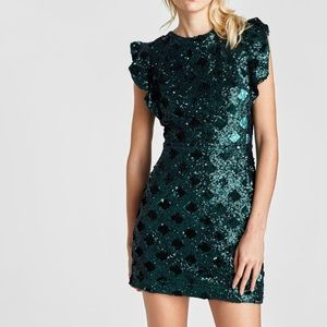 Zara mini sequin dress